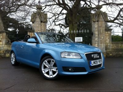 Audi A3 1.8 T FSI Sport 2dr Convertible Petrol BlueAudi A3 1.8 T FSI Sport 2dr Convertible Petrol Blue at New March Car Centre March