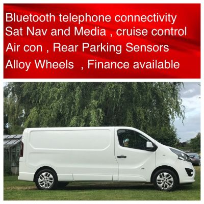 Vauxhall Vivaro 2900 1.6CDTI 120PS Sportive H1 Van LWB Long Wheel Base Panel Van Diesel WhiteVauxhall Vivaro 2900 1.6CDTI 120PS Sportive H1 Van LWB Long Wheel Base Panel Van Diesel White at New March Car Centre March