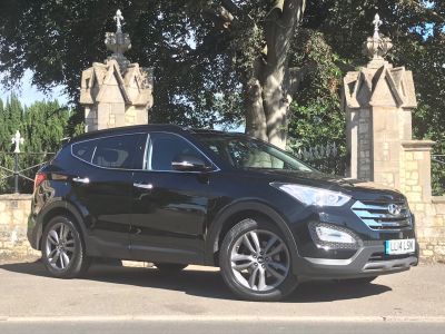 Hyundai Santa Fe 2.2 CRDi Premium SE 5dr Auto [7 Seats] panoramic sunroof Estate Diesel BlackHyundai Santa Fe 2.2 CRDi Premium SE 5dr Auto [7 Seats] panoramic sunroof Estate Diesel Black at New March Car Centre March