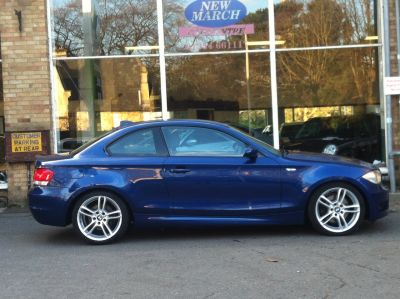 BMW 1 Series 2.0 123d M Sport 2dr Coupe Diesel BlueBMW 1 Series 2.0 123d M Sport 2dr Coupe Diesel Blue at New March Car Centre March