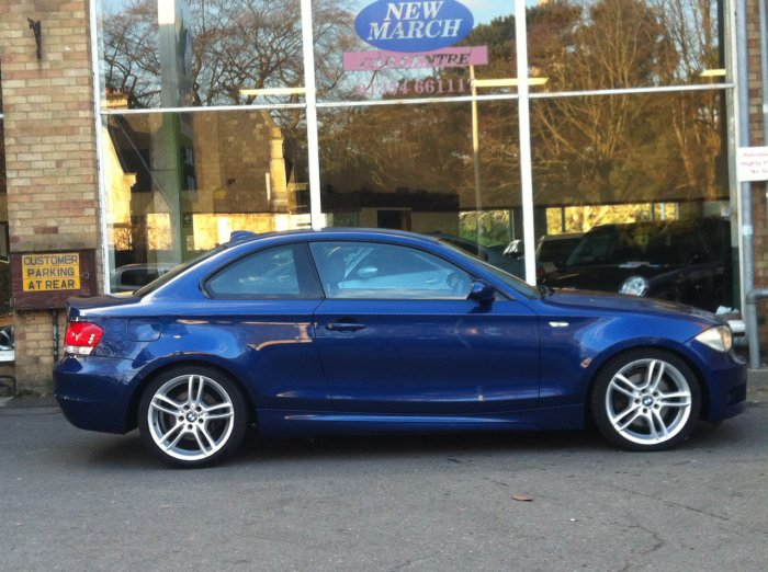second hand bmw 1 series 123d m sport 2dr for sale in march cambridgeshire new march car centre. Black Bedroom Furniture Sets. Home Design Ideas