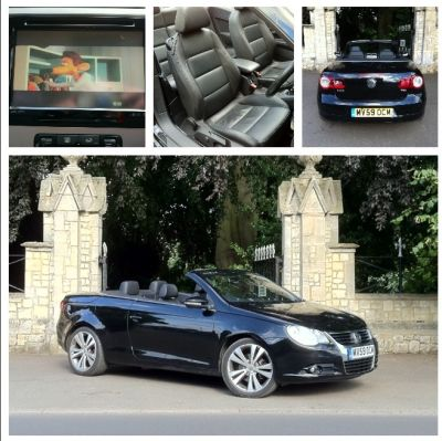 Volkswagen Eos 1.4 TSI 160 Sport 2dr Convertible Petrol BlackVolkswagen Eos 1.4 TSI 160 Sport 2dr Convertible Petrol Black at New March Car Centre March