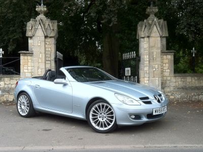Mercedes-Benz SLK 1.8 SLK 200K 2dr Tip Auto Convertible Petrol Blue SilverMercedes-Benz SLK 1.8 SLK 200K 2dr Tip Auto Convertible Petrol Blue Silver at New March Car Centre March