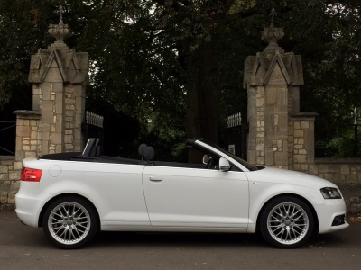 Audi A3 2.0 TDI Diesel S Line 2dr S Tronic Auto Automatic Cabriolet Convertible Diesel WhiteAudi A3 2.0 TDI Diesel S Line 2dr S Tronic Auto Automatic Cabriolet Convertible Diesel White at New March Car Centre March