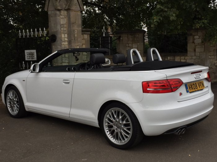 Audi A3 2.0 TDI Diesel S Line 2dr S Tronic Auto Automatic Cabriolet Convertible Diesel White