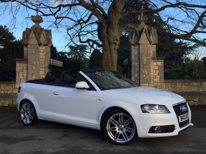 Audi A3 2.0 TDI S Line 2dr [Start Stop] Convertible Diesel White