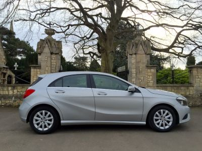 Mercedes-Benz A Class 1.6 A180 BlueEFFICIENCY SE 5dr Hatchback Petrol SilverMercedes-Benz A Class 1.6 A180 BlueEFFICIENCY SE 5dr Hatchback Petrol Silver at New March Car Centre March