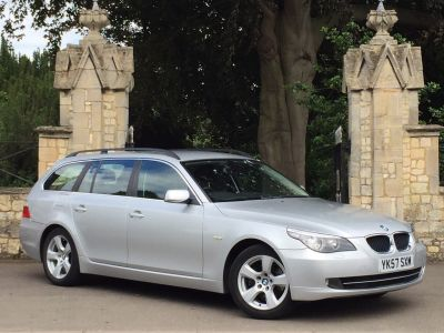BMW 5 Series 2.0 520d SE 5dr Step Auto Estate Diesel SilverBMW 5 Series 2.0 520d SE 5dr Step Auto Estate Diesel Silver at New March Car Centre March