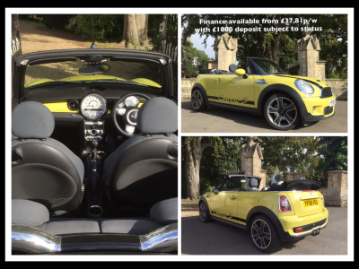 Mini Convertible 1.6 Cooper S 2dr Convertible Petrol YellowMini Convertible 1.6 Cooper S 2dr Convertible Petrol Yellow at New March Car Centre March