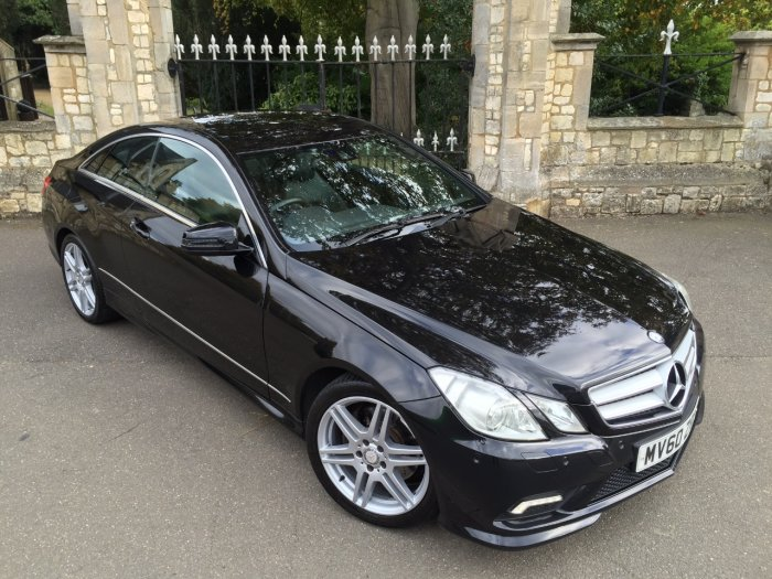 Mercedes-Benz E Class 3.0 E350 CDI BlueEFFICIENCY Sport 2dr Tip Auto Coupe Diesel Black