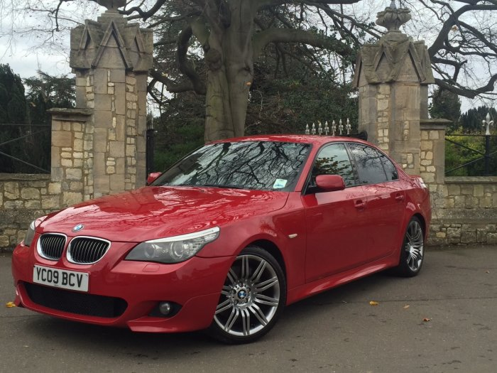 BMW 5 Series 3.0 Facelift 535d M Sport 4dr Step Auto Saloon Diesel Red