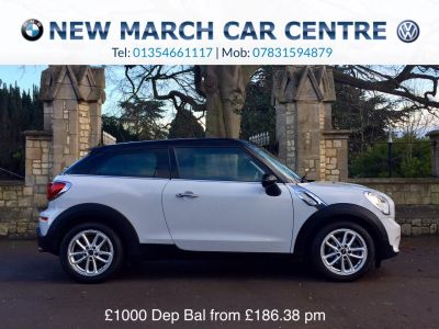 Mini Paceman 1.6 Cooper Chilli Pack 3dr Coupe Petrol WhiteMini Paceman 1.6 Cooper Chilli Pack 3dr Coupe Petrol White at New March Car Centre March