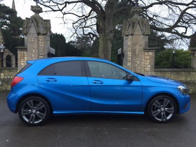 Mercedes-Benz A Class 1.5 A180 BLUEEFFICIENCY SPORT Hatchback Diesel South Seas BlueMercedes-Benz A Class 1.5 A180 BLUEEFFICIENCY SPORT Hatchback Diesel South Seas Blue at New March Car Centre March