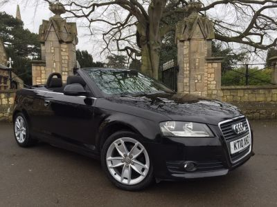 Audi A3 1.6 TDI Sport 2dr Convertible Diesel BlackAudi A3 1.6 TDI Sport 2dr Convertible Diesel Black at New March Car Centre March