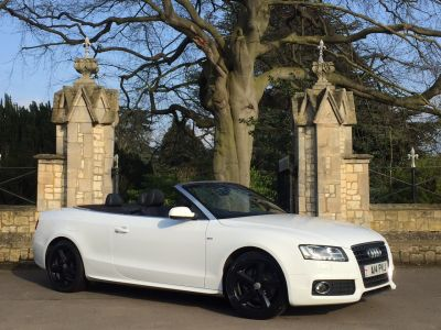 Audi A5 2.0T FSI S Line 2dr [Start Stop] Convertible Petrol WhiteAudi A5 2.0T FSI S Line 2dr [Start Stop] Convertible Petrol White at New March Car Centre March