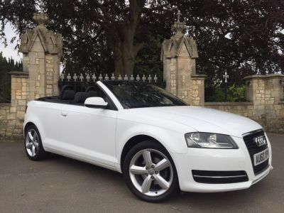 Audi A3 1.6 TDI Technik 2dr Convertible Diesel WhiteAudi A3 1.6 TDI Technik 2dr Convertible Diesel White at New March Car Centre March