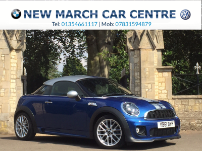 Mini Coupe 2.0 Cooper S D 3dr Auto John Cooper Works Coupe Diesel BlueMini Coupe 2.0 Cooper S D 3dr Auto John Cooper Works Coupe Diesel Blue at New March Car Centre March