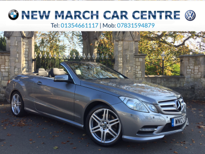 Mercedes-Benz E Class 2.1 E250 CDI BlueEFFICIENCY Sport 2dr Tip Auto Convertible Diesel SilverMercedes-Benz E Class 2.1 E250 CDI BlueEFFICIENCY Sport 2dr Tip Auto Convertible Diesel Silver at New March Car Centre March