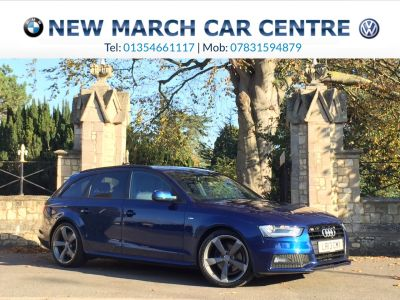 Audi A4 2.0 TDI 143 Black Edition 5dr Estate Diesel Scuba BlueAudi A4 2.0 TDI 143 Black Edition 5dr Estate Diesel Scuba Blue at New March Car Centre March