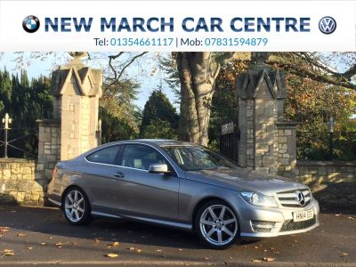 Mercedes-Benz C Class 2.1 C220 CDI AMG Sport Edition Coupe 2dr Auto [Premium] Coupe Diesel Palladium SilverMercedes-Benz C Class 2.1 C220 CDI AMG Sport Edition Coupe 2dr Auto [Premium] Coupe Diesel Palladium Silver at New March Car Centre March