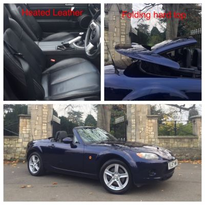 Mazda MX-5 1.8i [Option Pack] 2dr Folding Hard Top Convertible Petrol BlueMazda MX-5 1.8i [Option Pack] 2dr Folding Hard Top Convertible Petrol Blue at New March Car Centre March