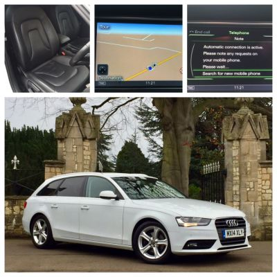 Audi A4 2.0 TDI Ultra 163 SE Technik Leather Sat Nav Estate Diesel WhiteAudi A4 2.0 TDI Ultra 163 SE Technik Leather Sat Nav Estate Diesel White at New March Car Centre March