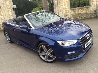Audi A3 1.4 TFSI 150 S Line 2dr Convertible Petrol BlueAudi A3 1.4 TFSI 150 S Line 2dr Convertible Petrol Blue at New March Car Centre March