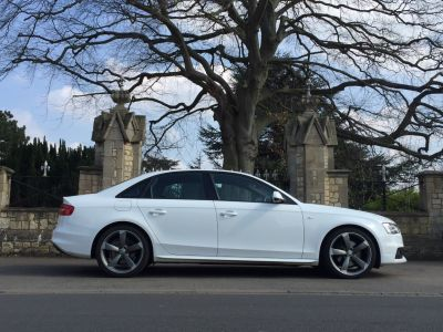 Audi A4 1.8T FSI 170 S Line 4dr Black Edition Saloon Petrol WhiteAudi A4 1.8T FSI 170 S Line 4dr Black Edition Saloon Petrol White at New March Car Centre March