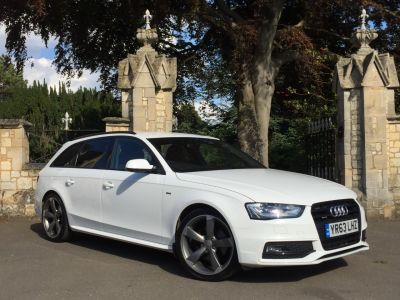 Audi A4 2.0 TDI 177 Quattro Black Edition 5dr Estate Diesel WhiteAudi A4 2.0 TDI 177 Quattro Black Edition 5dr Estate Diesel White at New March Car Centre March
