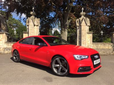 Audi A5 2.0 TDI 190 Quattro Black Edition Plus 5dr [5st] Hatchback Diesel RedAudi A5 2.0 TDI 190 Quattro Black Edition Plus 5dr [5st] Hatchback Diesel Red at New March Car Centre March