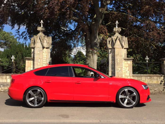 Audi A5 2.0 TDI 190 Quattro Black Edition Plus 5dr [5st] Hatchback Diesel Red