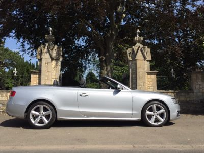 Audi A5 2.0 TDI S Line 2dr [Start Stop] Convertible Diesel SilverAudi A5 2.0 TDI S Line 2dr [Start Stop] Convertible Diesel Silver at New March Car Centre March